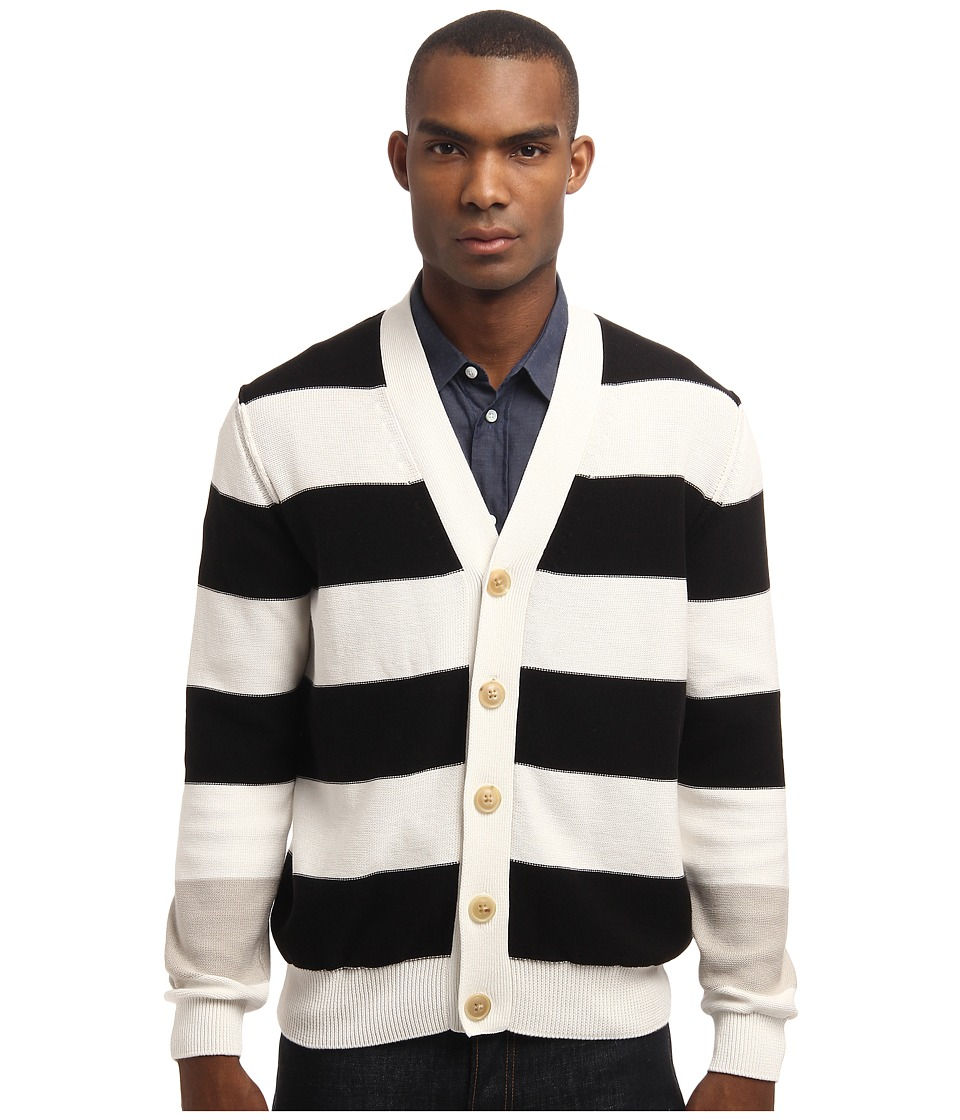 Marc Jacobs - Stripe Cardigan (White Multi) Men's Sweater