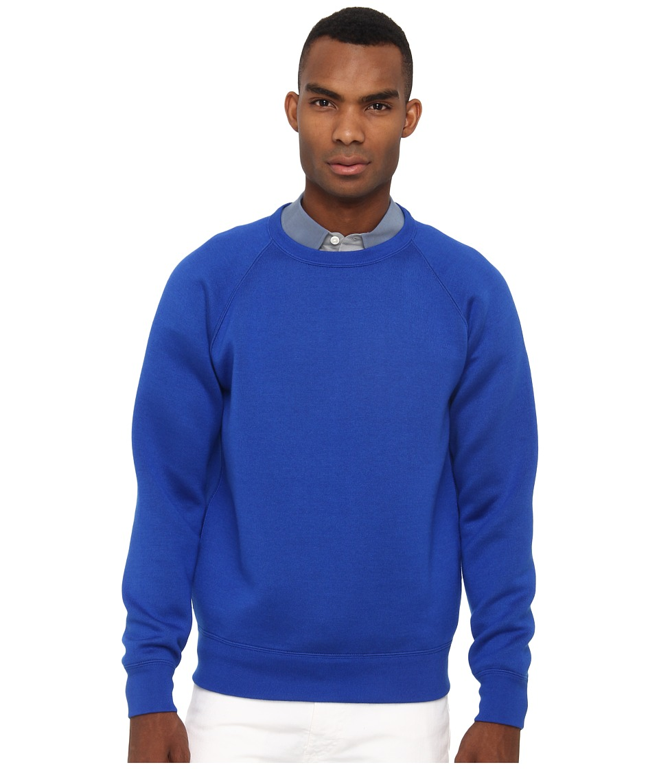 Marc Jacobs - Cashmere and Silk Crewneck Sweater (Cobalt/Cobalt/Academy) Men's Sweater