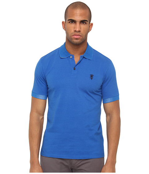 Marc Jacobs - Polo Shirt (Cobalt/Cobalt/Academy) Men's Short Sleeve Pullover