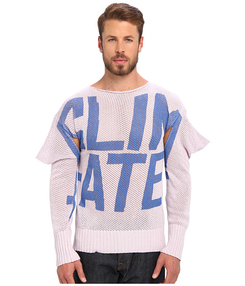 Vivienne Westwood MAN - RUNWAY Squared Climate Jumper (Old Rose) Men