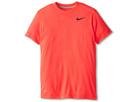 Nike Kids Dri-FIT Touch Short Sleeve Top (Laser Crimson/Dark Grey Heather/Black)