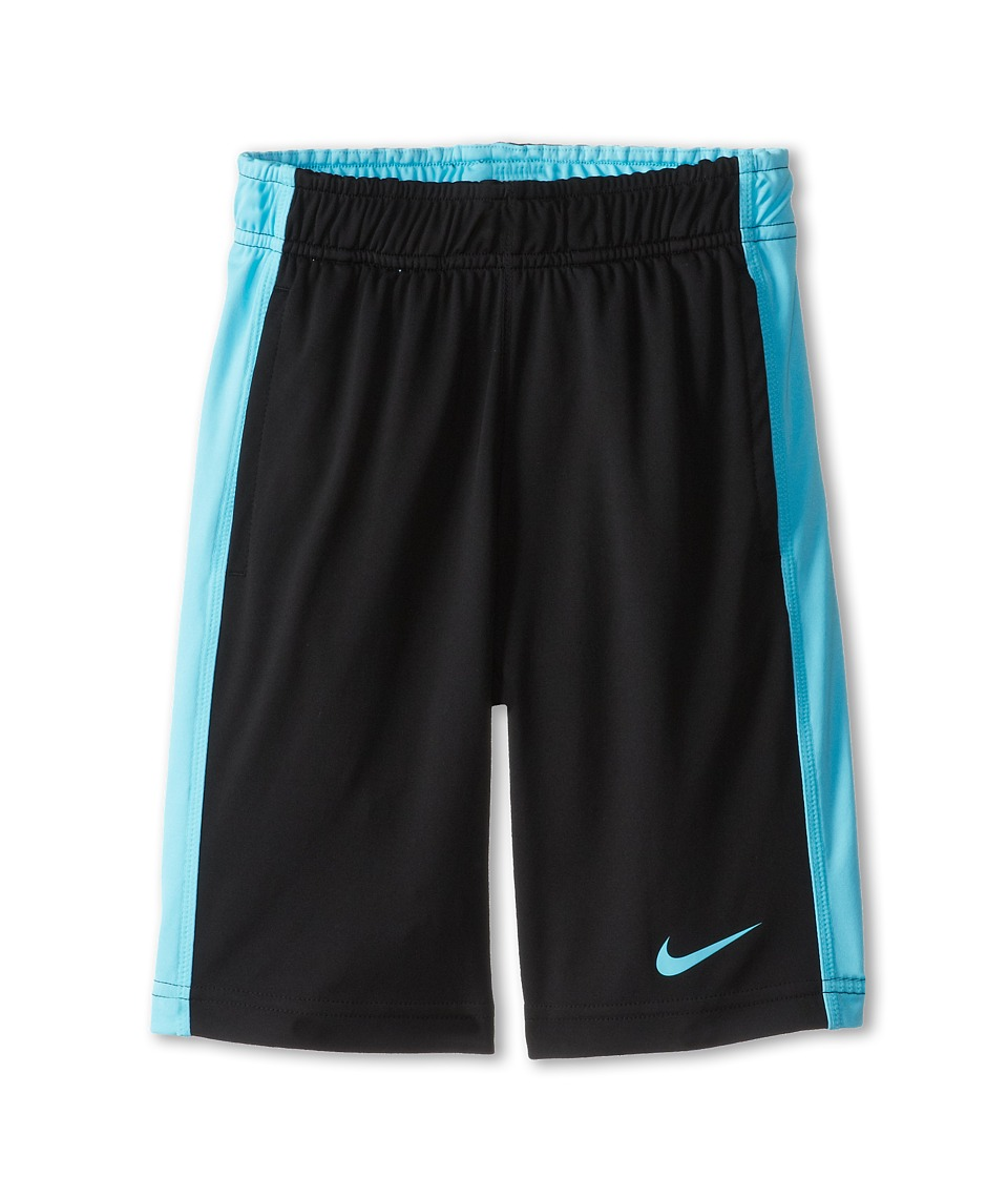 Nike Kids - Fly Short (Little Kids/Big Kids) (Black/Polarized Blue/Polarized Blue) Boy