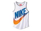 Nike Kids GFX Tank Top (Little Kids/Big Kids) (White/Dark Grey Heather)