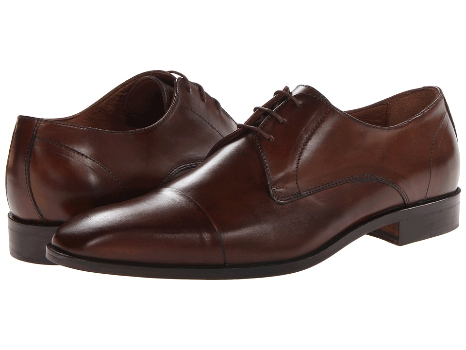 Massimo Matteo - 3-Eye Cap Toe (Brandy) Men's Lace Up Cap Toe Shoes