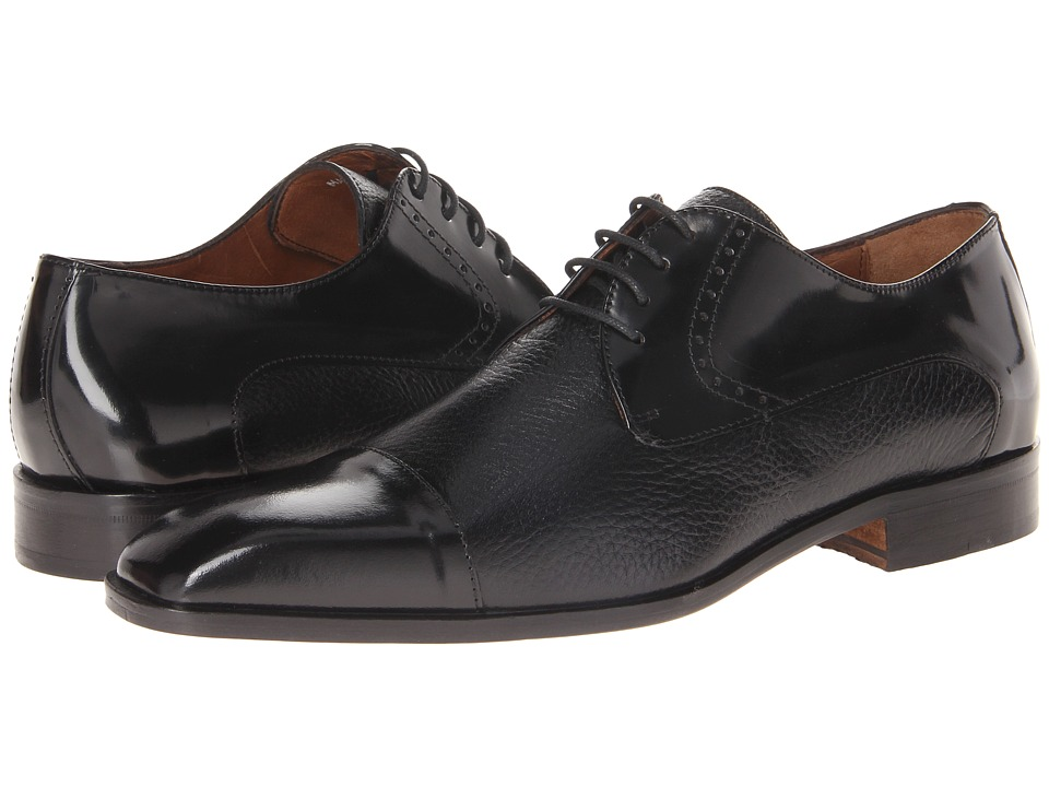 Massimo Matteo 4-Eye Deer Cap Toe (Black) Men