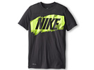 Nike Kids Hyper Spd Gfx S/S Top Drv2 (Little Kids/Big Kids) (Anthracite/Anthracite)