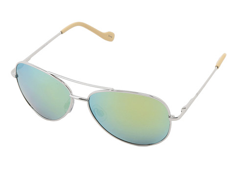 Jessica Simpson J402 (Silver/Yellow Flash Lenses) Metal Frame Fashion Sunglasses