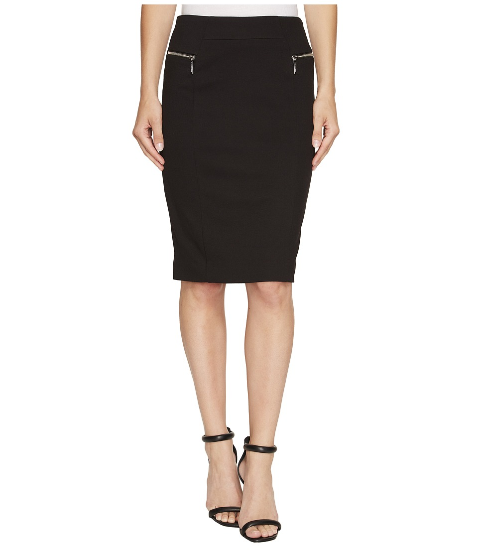 MICHAEL Michael Kors - Zip Ponte Skirt (Black) Women's Skirt