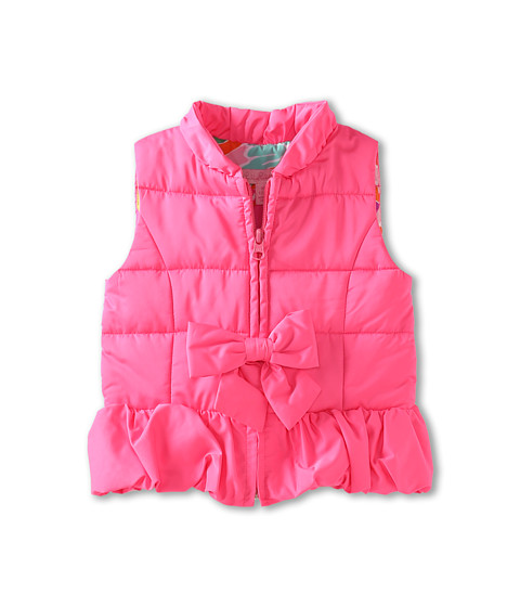 Lilly Pulitzer Kids - Mini Kate Puffer Vest (Toddler/Little Kids/Big Kids) (Tropical Punch) Girl's Vest