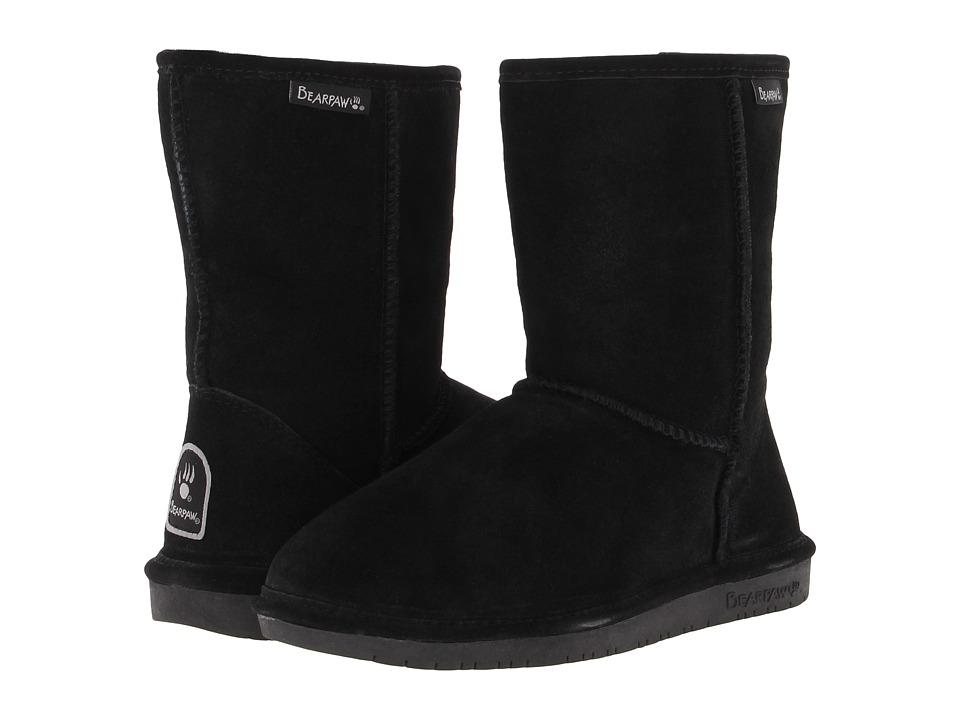 Bearpaw - Emma Short (Black Suede) Women's Pull-on Boots