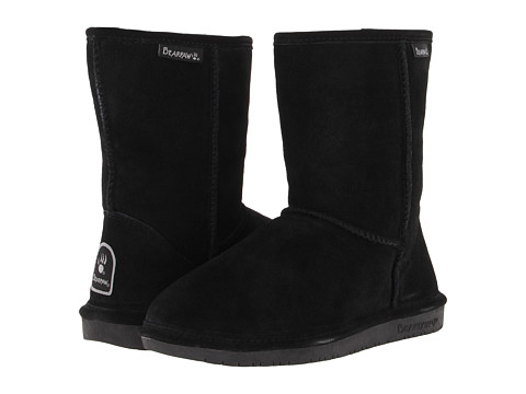 Bearpaw - Emma Short (Black Suede) Women's Pull-on Boots