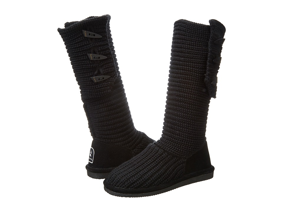 Bearpaw - Knit Tall (Black II) Women's Pull-on Boots