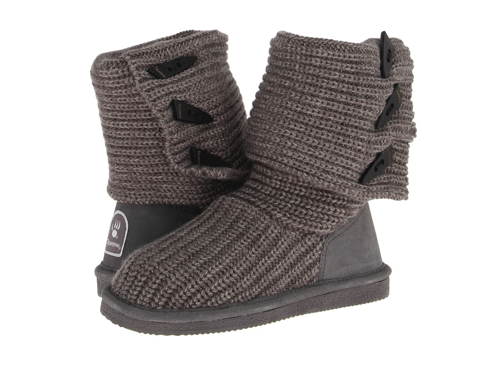 Bearpaw Knit Tall (Gray) Women's Pull-on Boots