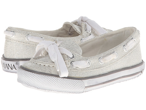 Amiana - 15-5211 (Toddler/Little Kid/Big Kid/Adult) (Silver Glitter Washed Fabric) Girls Shoes