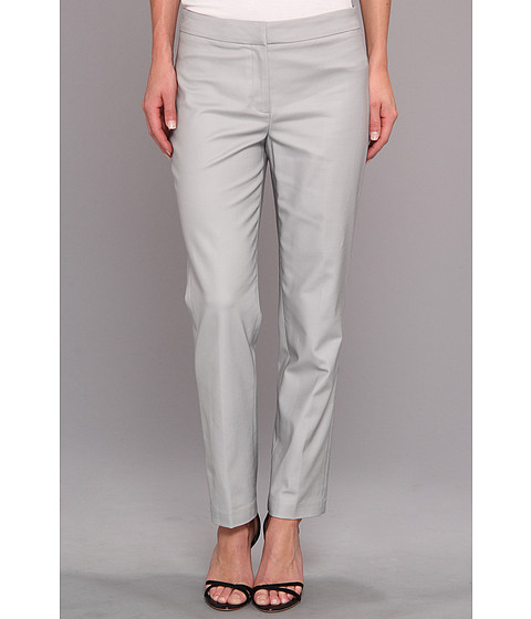 NIC+ZOE - The Perfect Pant - Front Zip Ankle (Pale Smoke) Women