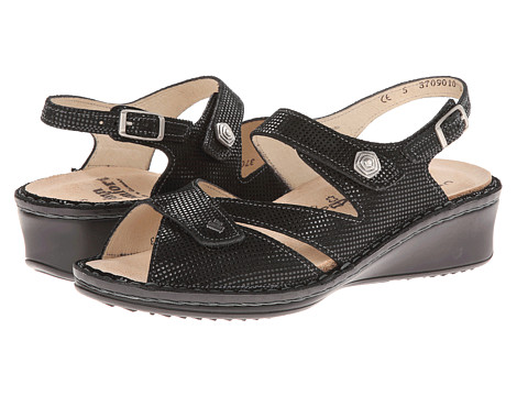 Finn Comfort - Santorin (Black Points) Women's Sandals