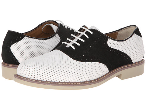 Bass - Buchanon (White/Black Perforated) Men's Lace up casual Shoes