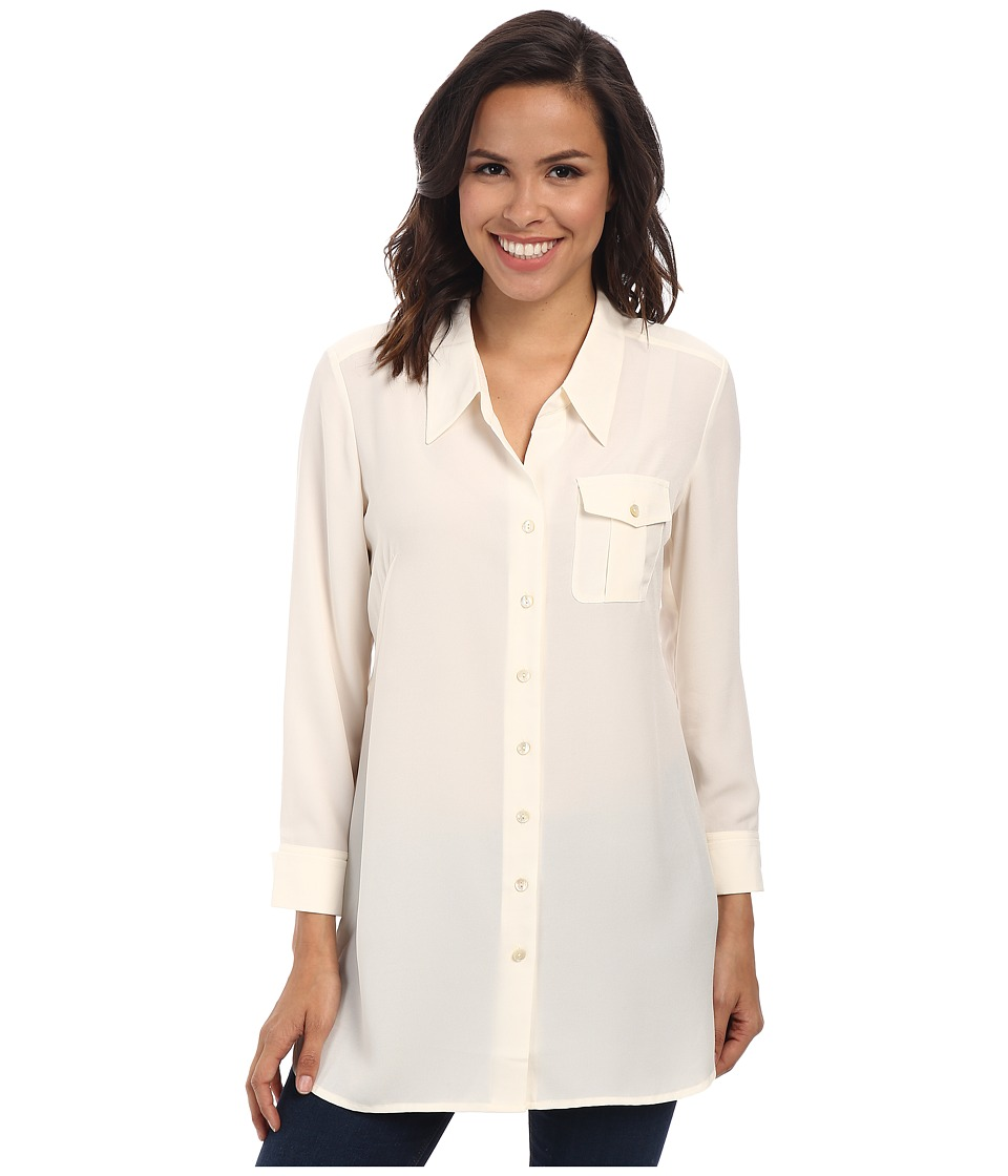 NIC+ZOE - Cool Mist Shirt (Bone 2) Women's Long Sleeve Button Up