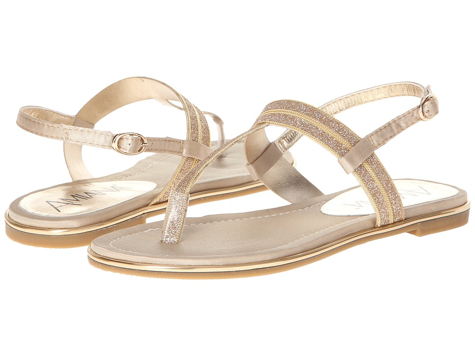 Image of Amiana - 15-A5279 (Toddler/Little Kid/Big Kid/Adult) (Gold Satin/Glitter) Girls Shoes