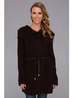 SALE! $24.99 - Save $94 on Jones New York Rib Sleeve Cardigan Coat (Chocolate) Apparel - 79.00% OFF $119.00