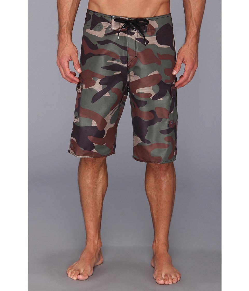Quiksilver - Manic Camo Boardshort (Beetle) Men's Swimwear