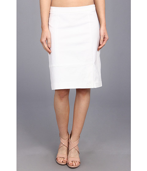 NIC+ZOE - The Perfect Pencil Skirt (Paper White) Women's Skirt