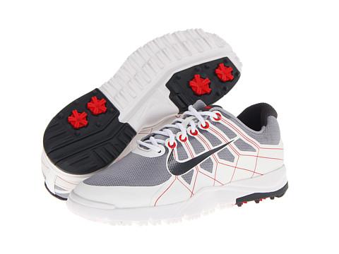 Nike Golf - Range Jr. (Little Kid/Big Kid) (Wolf Grey/Summit White/Hyper Red/Dark Grey) Men's Golf Shoes