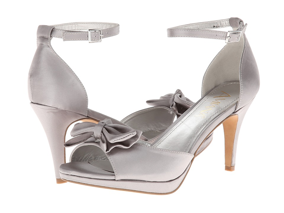 Amiana - 15-A5259 (Big Kid/Adult) (Silver Satin) Girl's Shoes