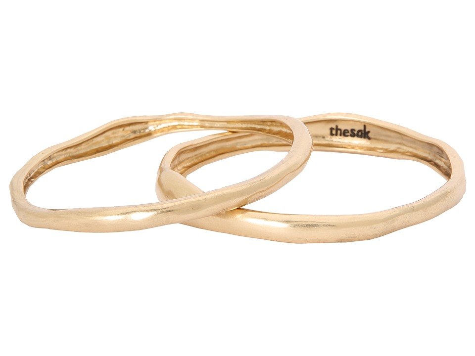 The Sak - Two Piece Metal Bangle Set (Gold) Bracelet
