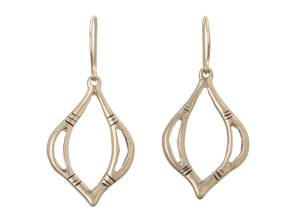 The Sak - Open Teardrop Earrings (Gold) Earring