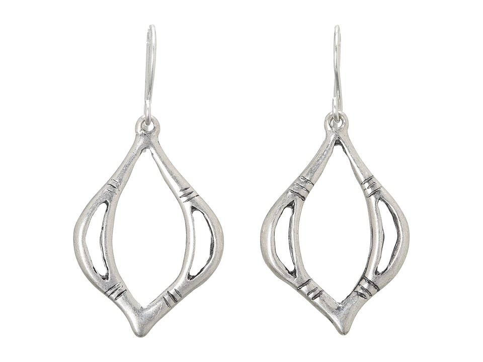 The Sak - Open Teardrop Earrings (Silver) Earring