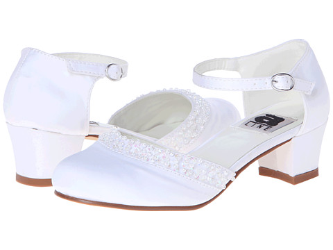 Amiana - 6-A0684 (Toddler/Little Kid/Big Kid/Adult) (White Satin) Girls Shoes