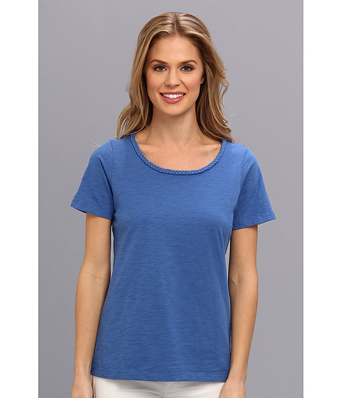 Pendleton - Braid Trim Tee (New Blue) Women's T Shirt