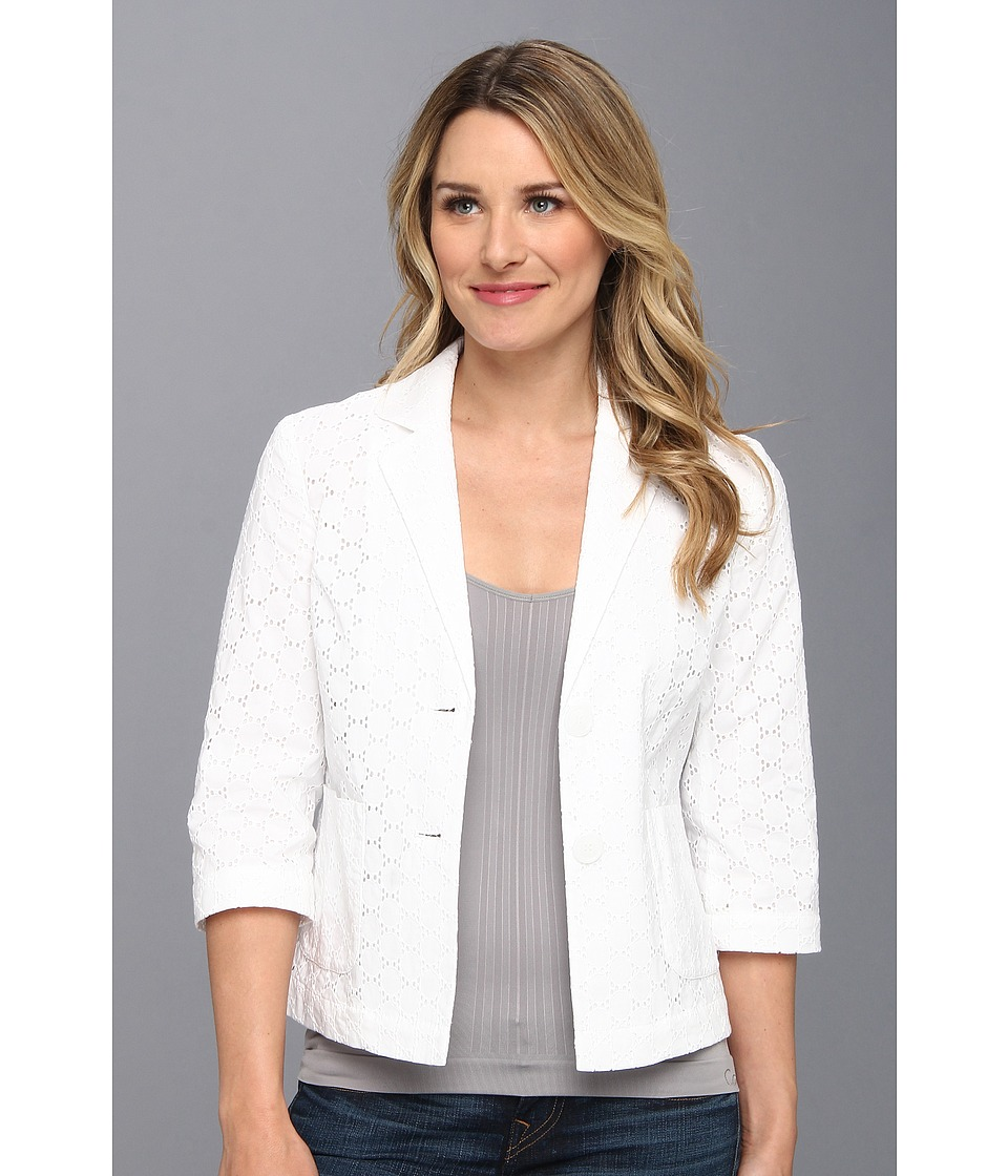 Pendleton - The Eyelet Jacket (White Eyelet) Women's Jacket