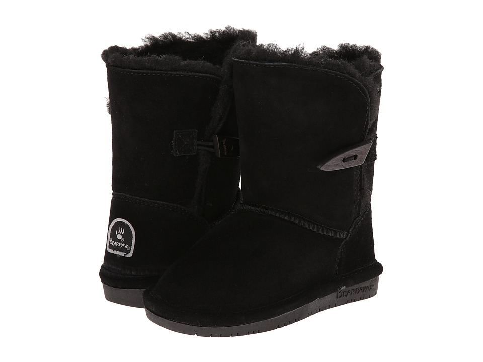 Bearpaw Kids - Abigail (Toddler) (Black II) Girls Shoes