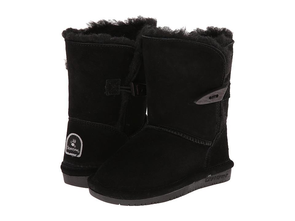 Bearpaw Kids Abigail (Toddler) (Black II) Girls Shoes