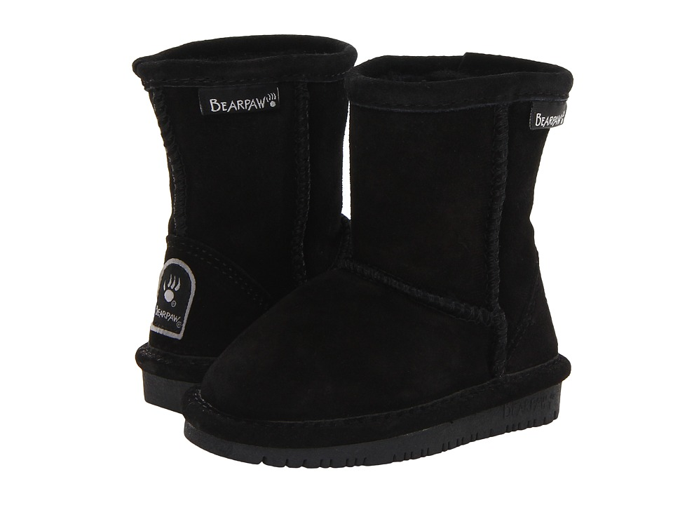 Bearpaw Kids - Emma (Toddler) (Black II) Girls Shoes