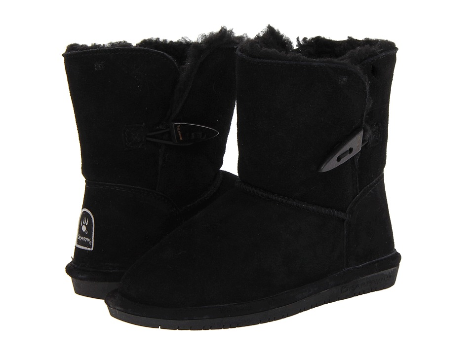 Bearpaw Kids - Abigail (Little Kid/Big Kid) (Black Suede) Girls Shoes