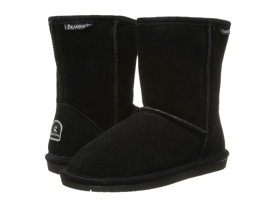 Bearpaw Kids Emma (Little Kid/Big Kid) (Black II) Girls Shoes