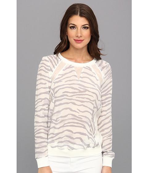 Rebecca Taylor - L/S Silk Sweatshirt (Snow) Women's Sweatshirt