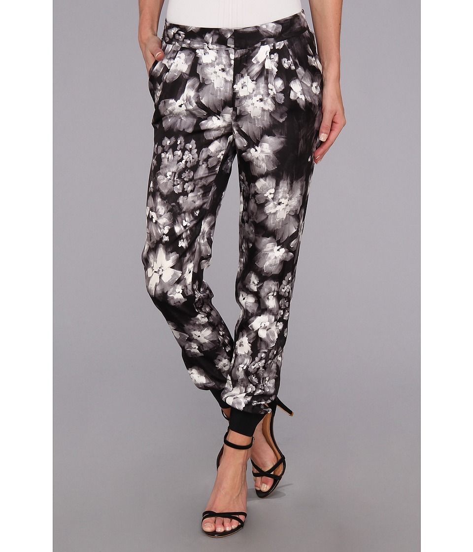 Rebecca Taylor - Ghost Flower Pant (Black/White) Women's Casual Pants