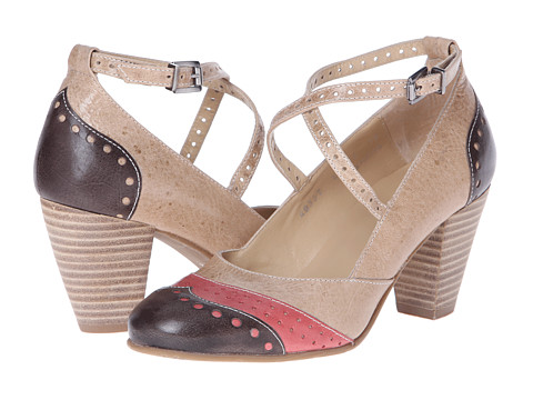 Fidji - L414 (Brown/Red/Beige) High Heels