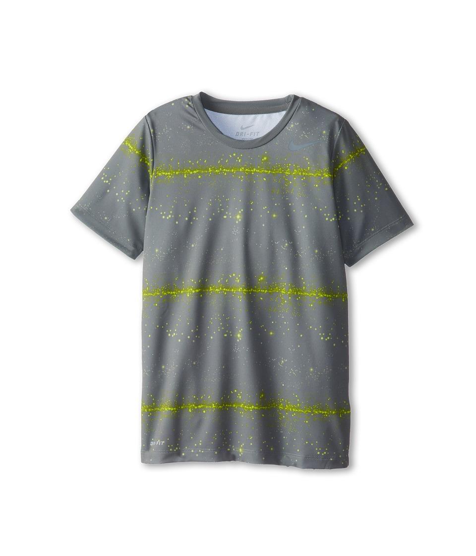 Nike Kids - Rally Sphere Stripe Crew (Little Kids/Big Kids) (Med Base Grey/Cool Grey) Boy