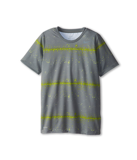 Nike Kids - Rally Sphere Stripe Crew (Little Kids/Big Kids) (Med Base Grey/Cool Grey) Boy