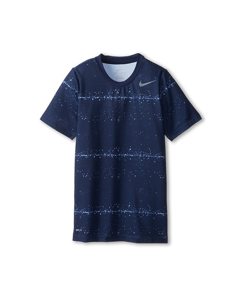 Nike Kids - Rally Sphere Stripe Crew (Little Kids/Big Kids) (Midnight Navy/Cool Grey) Boy
