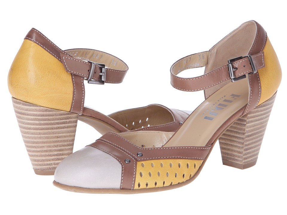 Fidji - L467 (Ivory/Brown/Yellow) Women
