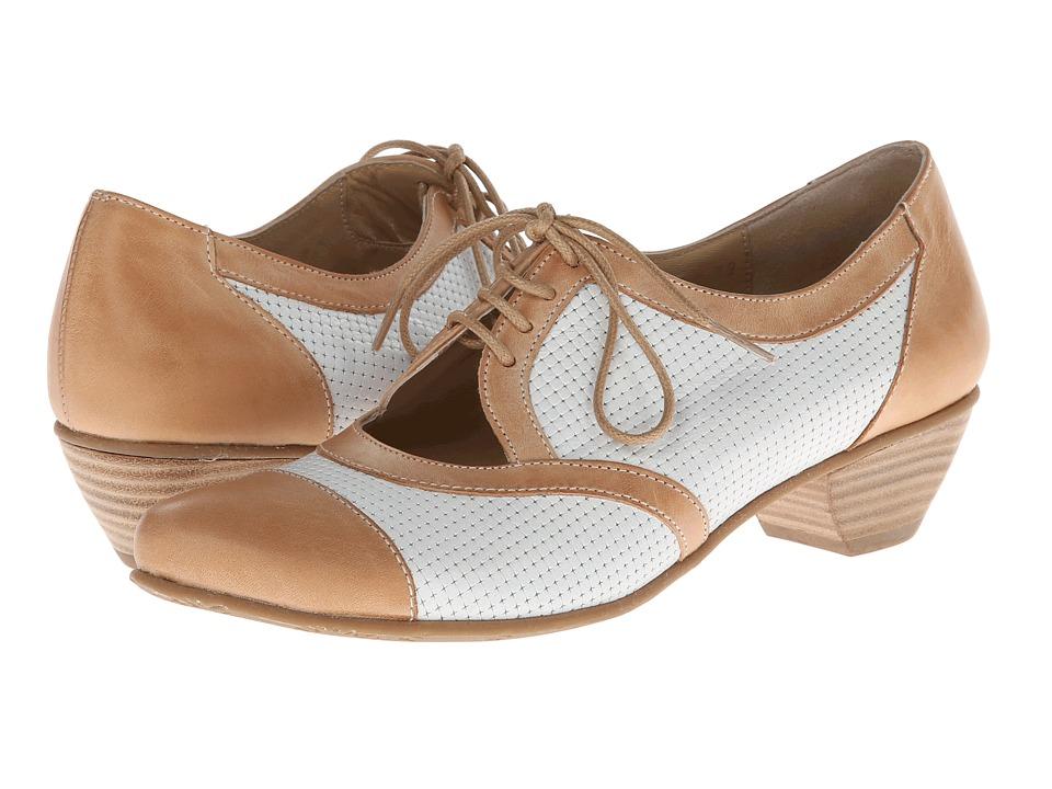 Fidji - L473 (Brown/Taupe) Women's 1-2 inch heel Shoes