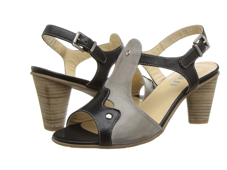 Fidji - L481 (Black/Taupe/Black) High Heels