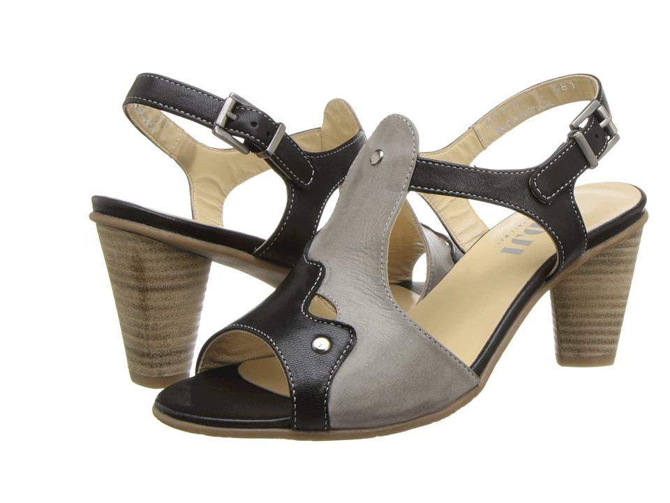 Fidji - L481 (Black/Taupe/Black) High Heels