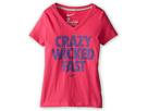 Nike Kids Crazy Wicked Fast V-Neck Tee (Little Kids/Big Kids) (Vivid Pink/Dark Grey Heather)